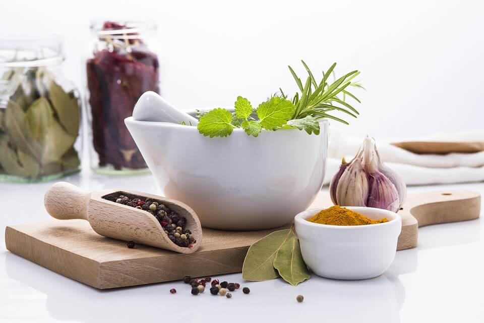 Cooking with herbs and spices is a healthy way to add flavour without the salt.