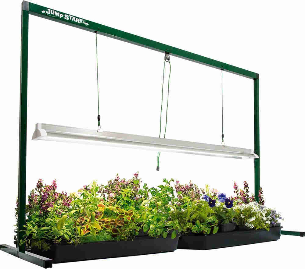 Include an adjustable stand that allows you to move the light up as the plants grow