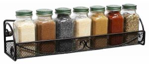 A simple rack to organize herbs and spices