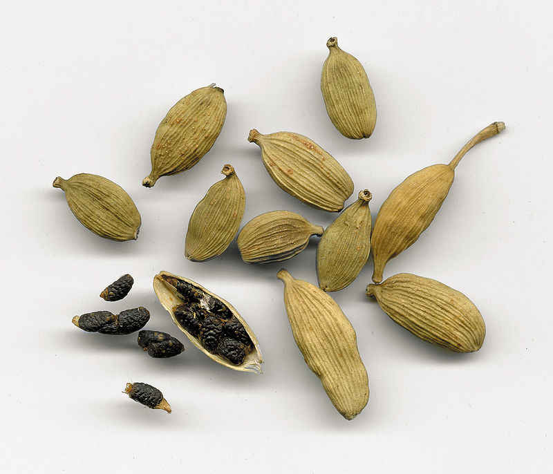 The seeds are the primary source of scent and flavour of cardamom