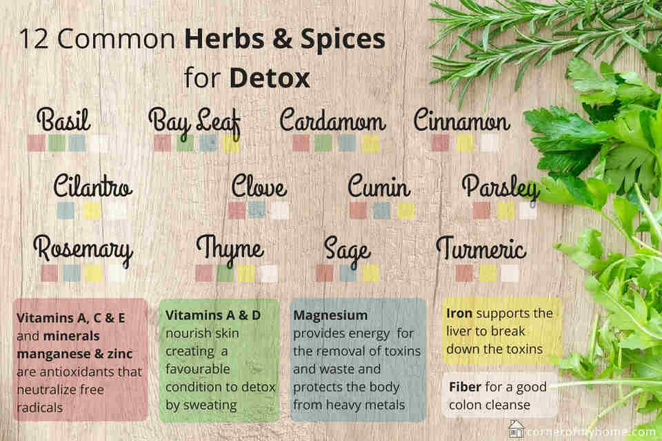 One of the best way to help your body detoxification process is by utilizing the herbs and spices