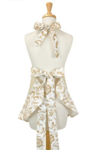 The extra-long ties allows for wrap around and a bow to be tied in the front if desired.