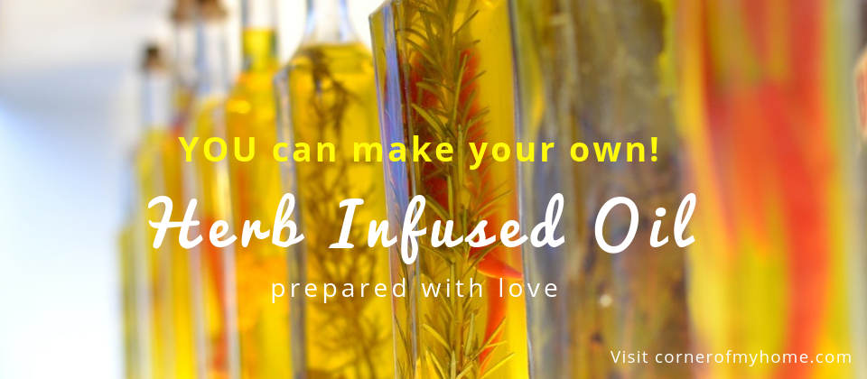 Make your own herb infused oil, prepared with love