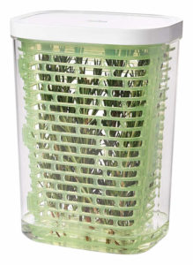 An ideal container for storing fresh herbs. It keeps them fresh for extended period of time.