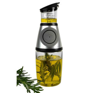 Herb infused oil adds delectable flavours to any home cooked meals and this is the perfect container for making flavoured oil.