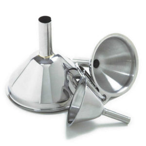 These funnels are perfect for adding salt, pepper, herbs or spices into shakers or jars.