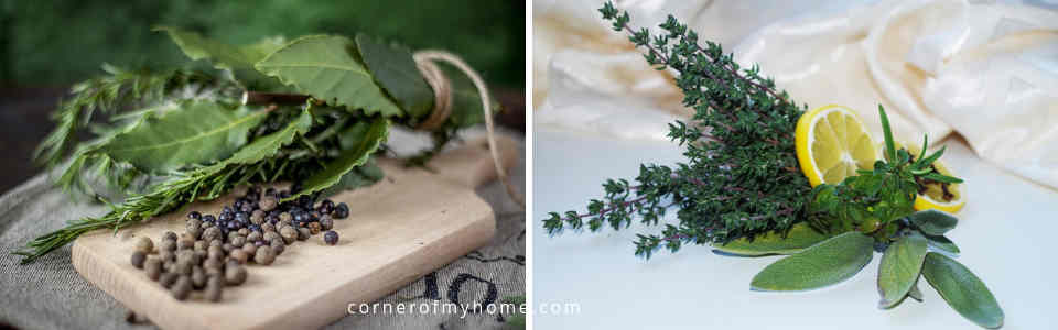 There isn't a fix recipe for bouquet garni. Simply follow your taste buds creating your own