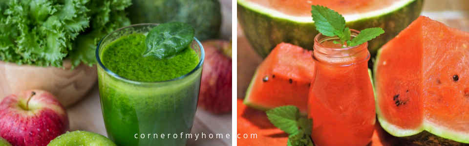 Consider colour when choosing ingredients for juicing. It does play a part in making a tantalizing juice.