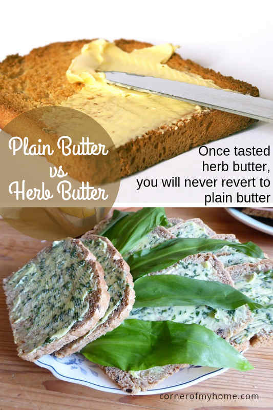 once tasted herb butter, you will not revert to plain butter