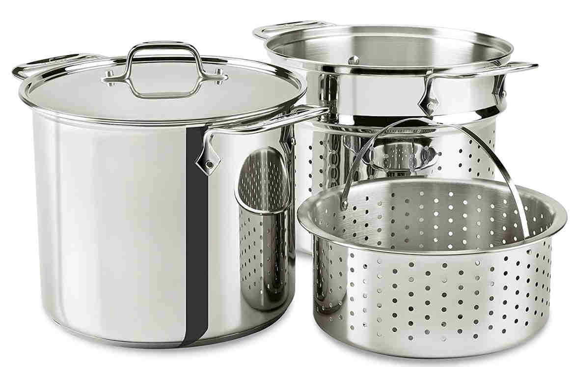 All Clad Stainless Steel Multi Cooker - Much easier for mom! Preparing homemade stocks or blanch pasta and vegetables will be easy.