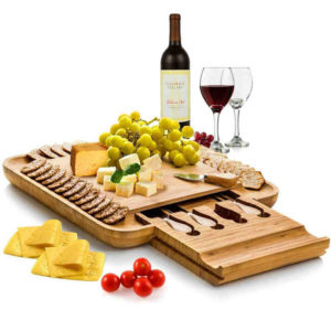 Bamboo Cheese Board Set - An awesome gift for mom who is a cheese lover