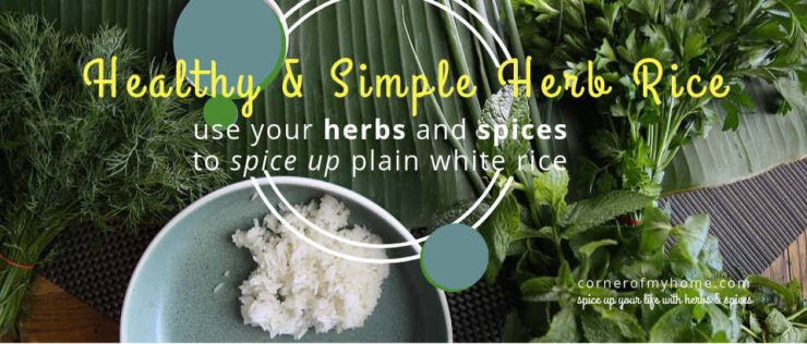 Use herbs and spices to spice up your plain white rice