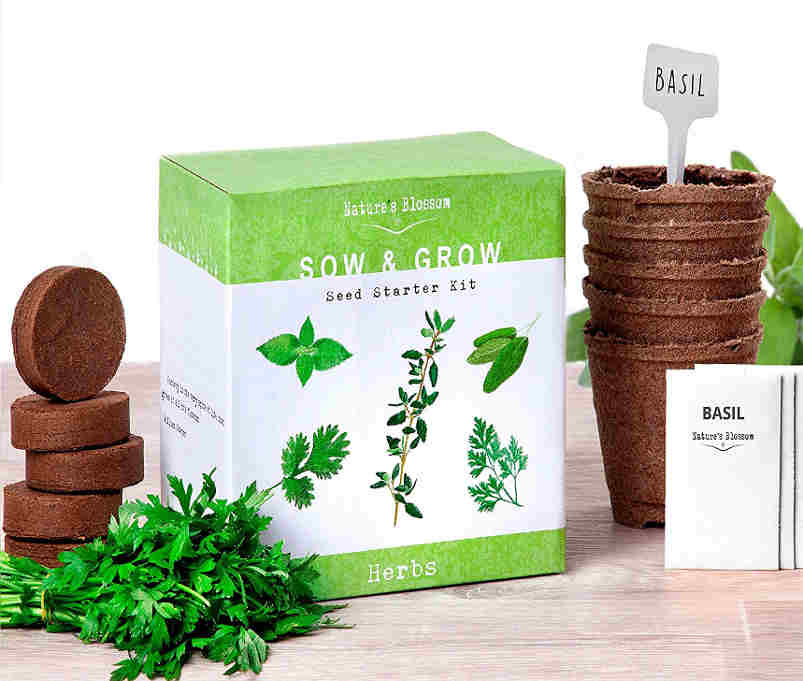 Herb Garden Kit - Herbs lover mom gets to grow her own herbs