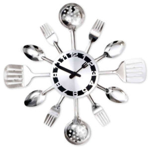 Kitchen Utensil Clock - A unique culinary gift for mom