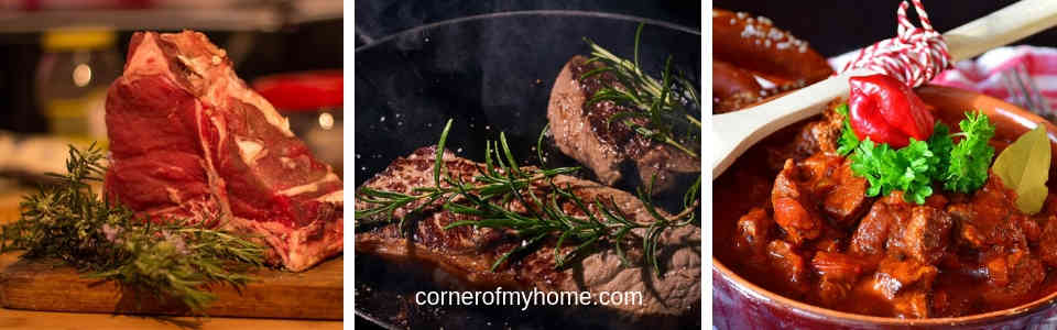 Enhance the flavour of beef dishes with herbs