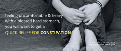 Use cooking herbs that help constipation