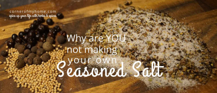 The basic ingredients of seasoned salt typically includes salt, garlic powder and onion powder.