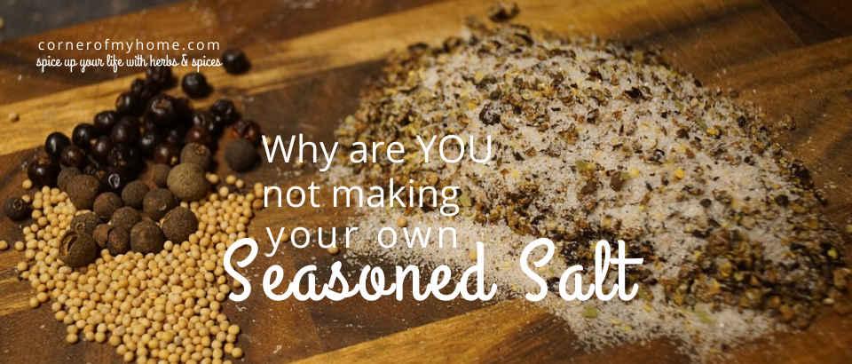 The basic ingredients of seasoned salt typically includes salt, garlic powder and onion powder.