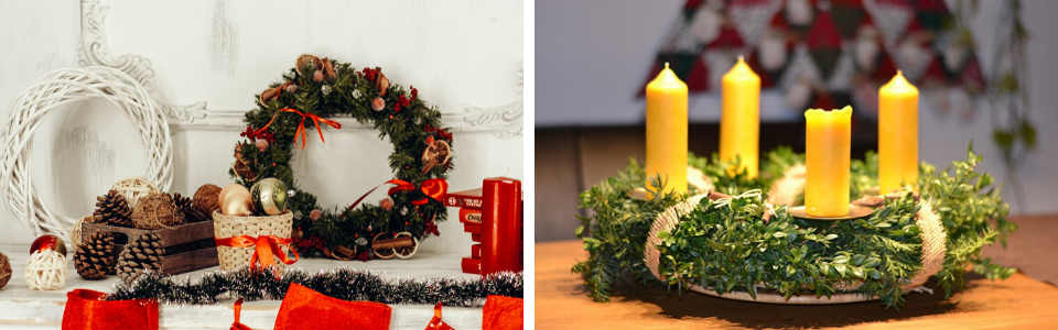 Christmas wreaths as home deocr