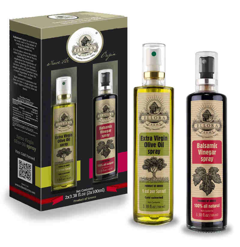 Perfect pair of oil and vinegar makes a perfect gift for a foodie. An avid fan of olive oil and balsamic vinegar will love this