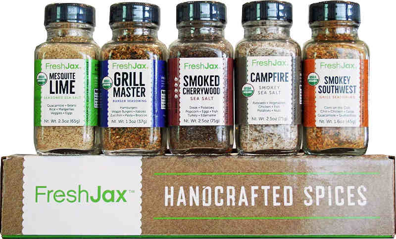 Fresh Jax Smoked Spices Gift Set. They make great gifts for the home chef who like to experiment with flavours.