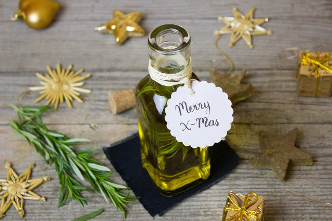 Make your own Herb Infused Oil for gifting. Anyone who is a foodie receiving this will be loving it.