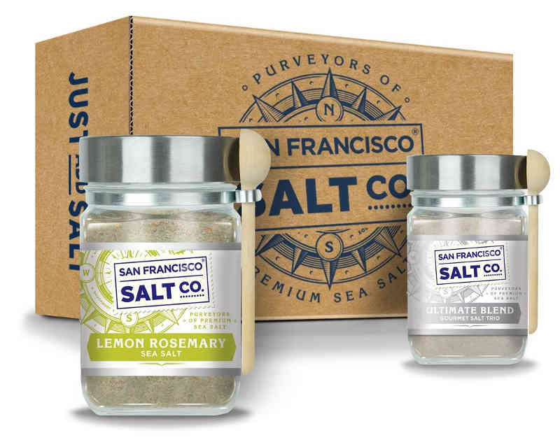 Packaged in beautiful jars with a wooden spoon, this gourmet duo of all-natural salts is the perfect gift for the home chef, no matter the occasion.