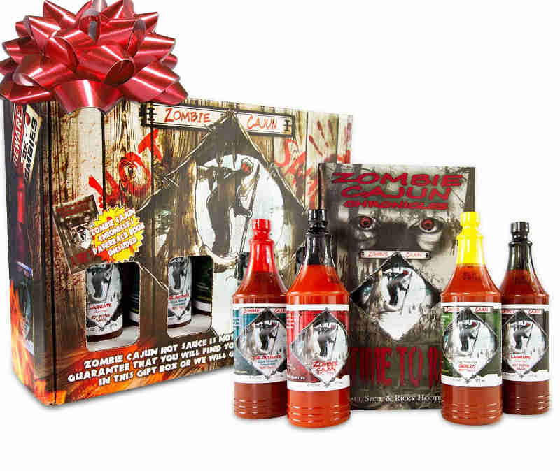 A great tasting fun gift set for a huge hot sauce lover and zombie fan.