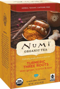 USDA certified organic and non-GMO project verified, this tea blend is made up of Fair Trade Certified™ organic turmeric, organic ginger, organic licorice and organic rose.