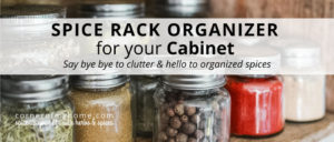 Get your spices & seasoning bottles organized with these practical kitchen cabinet spice storage ideas