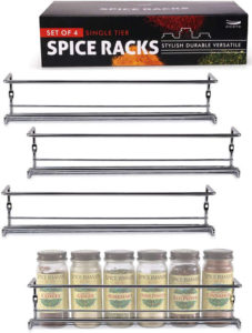 A basic spice rack but gives you all the flexibility in arranging your spices and herbs jars the way you wanted and enjoy easy access at all times