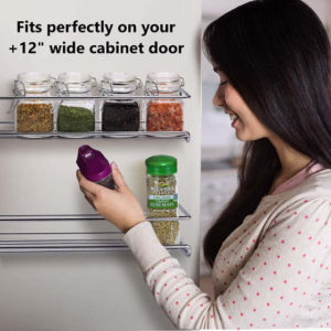 This cabinet door spice rack set allows you to arrange your spices according to your needs. Best of all, you get to free up your cabinet space.