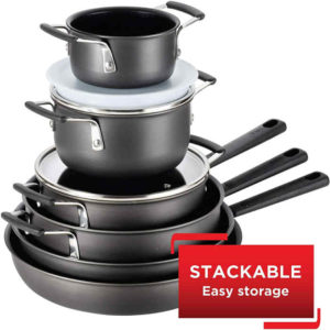 Should you have space concern, this stackable set will be of advantage.