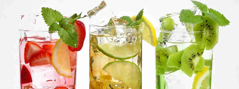 Fruits and herbs infused water
