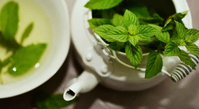Mint tea is very good for bloated stomach, digestion and has calming effect which helps reduce stress and anxiety.