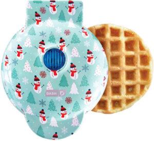 Mini waffle maker - Aqua tree design