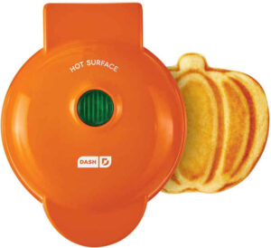 Mini Waffle Maker - orange pumpkin shape