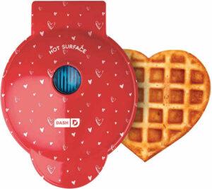 Mini Waffle Maker - Red Love Heart shape