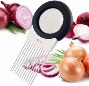 This onion slicer is great for a beginner who is less experience cutting or slicing.