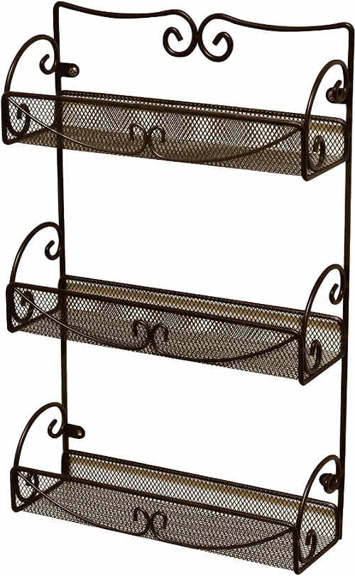 A multi-purpose rack for spice bottles and food jars or cans.