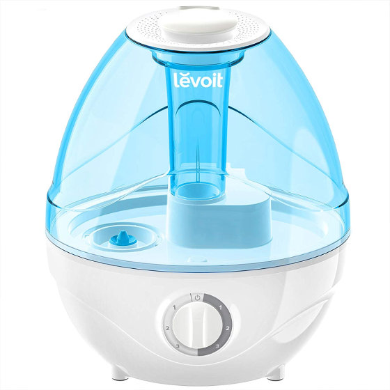 Levoit Ultrasonic Cool Mist Humidifier is perfect for light sleepers or baby nursery.